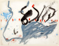 Works on Paper, HELEN FRANKENTHALER (American, b. 1928). The Highway, 1957. Oil on paper. 17 x 22 inches (43.2 x 55.9 cm). Signed and da...