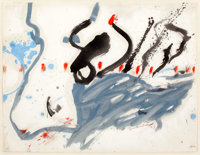 HELEN FRANKENTHALER (American, b. 1928) The Highway, 1957 Oil on paper 17 x 22 inches (43.2 x 55