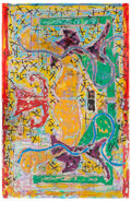 Post-War & Contemporary:Contemporary, FRANK STELLA (American, b. 1936). Pergusa Three Double,1984. Mixed media in colors on TGL handmade paper. 102 x 66 inch...