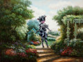 Post-War & Contemporary:Contemporary, RON ENGLISH (American, b. 1959). Cowgirl in the Garden,2001. Acrylic on canvas. 36 x 48 inches (91.4 x 121.9 cm). Signe...