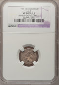 Early Half Dimes, 1797 H10C 15 Stars--Improperly Cleaned--NGC Details. XF. V-2, LM-1,R.3....