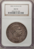 Coins of Hawaii, 1883 $1 Hawaii Dollar AU53 NGC....