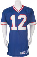 Football Collectibles:Uniforms, 1993 Jim Kelly Game Worn Buffalo Bills Jersey....