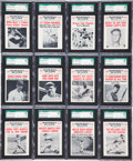 """Baseball Cards:Sets, 1961 Nu-Card """"Baseball Scoops"""" SGC-Graded Partial Set (59/80) - With 45 Mint or GEM Mint Cards! ..."""