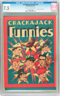 Platinum Age (1897-1937):Miscellaneous, Crackajack Funnies (giveaway) #nn (Malto-Meal, 1937) CGC VF- 7.5Off-white to white pages....