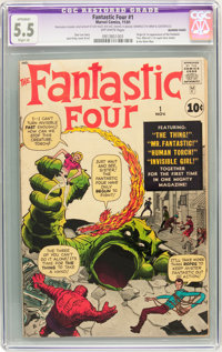 Fantastic Four #1 (Marvel, 1961) CGC Apparent FN- 5.5 Slight (A) Off-white pages