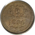 Coins of Hawaii, 1886 12.5C Hawaii-Grove Ranch XF40 PCGS....
