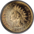 Proof Indian Cents, 1867 1C PR66 Red and Brown ICG....