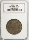 Bust Half Dollars, 1807 50C Capped Bust, Large Stars XF45 NGC....