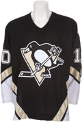 Hockey Collectibles:Uniforms, 2006-07 Gary Roberts Game Worn Pittsburgh Penguins Jersey....