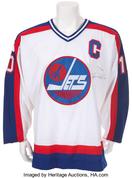 new concept c39ab 0453f 1988-89 Dale Hawerchuk Game Worn, Signed Winnipeg Jets ...