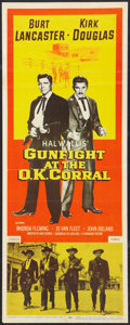 """Movie Posters:Western, Gunfight at the O.K. Corral (Paramount, 1957). Insert (14"""" X 36""""). Western.. ..."""