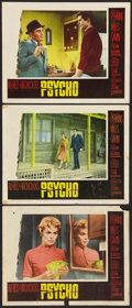 "Movie Posters:Hitchcock, Psycho (Paramount, 1960). Lobby Cards (3) (11"" X 14""). Hitchcock..... (Total: 3 Items)"