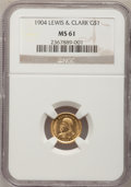 Commemorative Gold, 1904 G$1 Lewis and Clark MS61 NGC....
