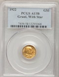 Commemorative Gold, 1922 G$1 Grant With Star AU58 PCGS....
