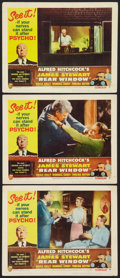 """Movie Posters:Hitchcock, Rear Window (Paramount, R-1962). Lobby Cards (3) (11"""" X 14"""").Hitchcock.. ... (Total: 3 Items)"""
