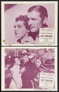 "Movie Posters:Fantasy, Lost Horizon (Columbia, R-1948). Lobby Cards (2) (11"" X 14""). Fantasy.. ... (Total: 2 Items)"