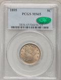 Liberty Nickels, 1895 5C MS65 PCGS. CAC....