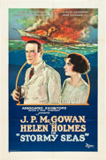 "Movie Posters:Drama, Stormy Seas (Associated Exhibitors, 1923). One Sheet (27"" X 41"")Style B.. ..."
