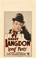 """Movie Posters:Comedy, Long Pants Lot (First National, 1927). Window Card (14"""" X 22"""") andJumbo Lobby Card (14"""" X 17"""").. ... (Total: 2 Items)"""