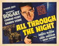 "Movie Posters:Action, All Through the Night (Warner Brothers, 1941). Half Sheet (22"" X28"") Style A.. ..."