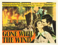 "Gone with the Wind (MGM, 1939). Half Sheet (22"" X 28"")"