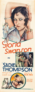 "Movie Posters:Drama, Sadie Thompson (United Artists, 1928). Insert (14"" X 36"").. ..."