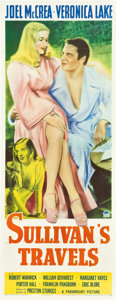 "Movie Posters:Comedy, Sullivan's Travels (Paramount, 1941). Insert (14"" X 36"").. ..."