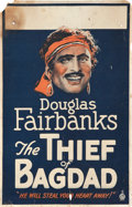 """Movie Posters:Adventure, The Thief of Bagdad (United Artists, 1924). Window Card (14"""" X 22"""").. ..."""