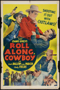 """Movie Posters:Western, Roll Along, Cowboy (Guaranteed Pictures, R-1940s). One Sheet (27"""" X 41""""). Western.. ..."""