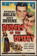 "Movie Posters:Adventure, Raiders of the Desert (Universal, 1941). One Sheet (27"" X 41"").Adventure.. ..."
