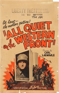 "Movie Posters:Academy Award Winners, All Quiet on the Western Front (Universal, 1930). Window Card (14"" X 22"").. ..."
