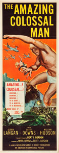 """Movie Posters:Science Fiction, The Amazing Colossal Man (American International, 1957). Insert(14"""" X 36"""").. ..."""