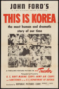 """Movie Posters:Documentary, This is Korea (Republic, 1951). One Sheet (27"""" X 41""""). Documentary.. ..."""