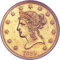 Liberty Eagles, 1839 $10 Type of 1838, Large Letters MS61 PCGS....