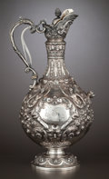 Silver Holloware, British:Holloware, A VICTORIAN SILVER AND SILVER GILT CLARET JUG . Charles ClementPilling, London, England, 1900-1901. Marks: (lion passant),...
