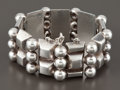 Silver Smalls:Other , A MEXICAN SILVER CUFF . Héctor Aguilar, Taxco, Mexico, circa 1945.Marks: HA (conjoined), TAXCO, 940. 7-1/2 inches l...