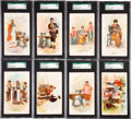 "Non-Sport Cards:Lots, 1892 H639 Singer ""Costumes of All Nations"" SGC-Graded Group of (8)...."