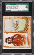 Non-Sport Cards:Singles (Pre-1950), 1888 N36 Allen & Ginter Chief Joseph SGC 80 EX/NM 6 - Pop One,Highest! ...