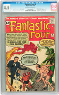 Silver Age (1956-1969):Superhero, Fantastic Four #6 (Marvel, 1962) CGC VG+ 4.5 Off-white to white pages....