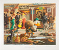Original Comic Art:Miscellaneous, Carl Barks Nobody's Spending Fool Regular Edition Lithograph#77/350 (Another Rainbow, 1997).... (Total: 2 Items)