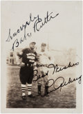 Autographs:Photos, 1931 Babe Ruth & Lou Gehrig Signed Photograph....