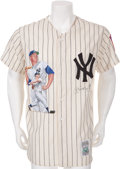 Autographs:Jerseys, Circa 1990 Mickey Mantle Signed Jersey....