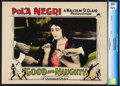 "Movie Posters:Drama, Good and Naughty (Paramount, 1926). CGC Graded Lobby Card (11"" X14"").. ..."