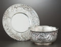 Silver & Vertu:Hollowware, AN AMERICAN SILVER CHILD'S BOWL AND UNDER PLATE . Tiffany & Co., New York, New York, circa 1902. Marks: TIFFANY & CO., ST... (Total: 2 Items)