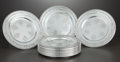 Silver Holloware, American:Plates, A SET OF TWELVE AMERICAN SILVER PLATES . Towle Silversmiths,Newburyport, Massachusetts, circa 1924. Marks: (lion in T), ...(Total: 12 Items)