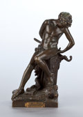 Sculpture, A FRENCH PATINATED BRONZE FIGURE . After Félix Maurice Charpentier, Paris, France, circa 1900. Marks: F Charpentier. 16-...