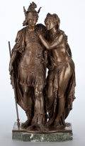 Sculpture, A FRENCH PATINATED BRONZE FIGURAL GROUP . After Jean-Baptiste Germain, Paris, France, circa 1900. Marks: J BTE GERMAIN. ...