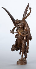 Paintings, A FRENCH PATINATED BRONZE FIGURAL GROUP . After Antonin Mercié, Paris, France, circa 1875. Marks: A. MERCIÉ, F. BARBEDIENN...