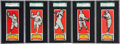 Baseball Cards:Sets, 1951 Topps Connie Mack All-Stars SGC-Graded Collection (5). ...